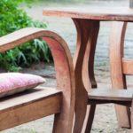 salon jardin en teck avec fauteuil